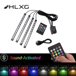 $enCountryForm.capitalKeyWord Australia - HLXG 7 Color Decorative atmosphere light LED Car Interior Lighting RGB car styling Foot Lamp Wireless Remote Control Strip Light
