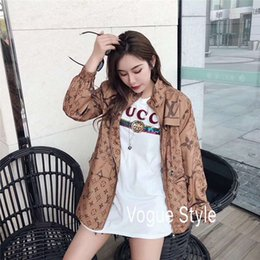 Fashion Brand Women Jacket Australia - Designer Jacket for Women Fashion Brand Zipper Slim Waist Hoodie Pocket Letters Print Womens Luxury Coat Stand Collar Cclothing