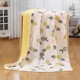 hospital beds for home UK - 110*150cm Pineapple radish elephant Printed Blankets for KIDS Healthy Cotton Blanket Children Summer Quilt Kids Soft Sofa &Bed Covers