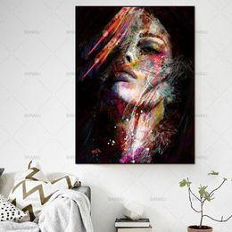 $enCountryForm.capitalKeyWord Australia - High Quality Wall Art colorful woman Handpainted & HD Print Graffiti Art oil painting Richie Rich Money On Canvas,Home Decor Multi Size p147