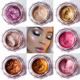 Face Glow Cream Australia - Face Highlighter Jelly Gel Mermaid Eyeshadow Glow Body Glitter Festival Makeup iluminador Gold Liquid Highlighter Pink Bronzer