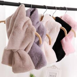 Fur Scarf Wholesaler Australia - 4 colors 15CM*95CM Faux Fur Collar Winter Scarf Women faux Knitted Rex Rabbit Fur Scarves Fur Neckerchief Winter Long Wraps 2018 D19011004