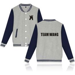 ec2bdcd08bad kpop GOT7 Jackson team wang printed fashion Baseball Jacket men women  Hoodies Sweatshirts casual Long Sleeve Jackets coats tops
