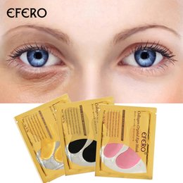 Anti Aging Oils For Skin Australia - efero 2Pc 1Pair Gold Crystal Collagen Eye Mask Eye Patches Skin Care Patch Eye Mask For Face Care Dark Circles Remove Gel