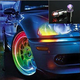 Car Wheels Tyres Australia - New Arrival 2 Pieces Colorful Bike Car Motorcycle Tyre Tire Valve Caps LED Wheel Lights