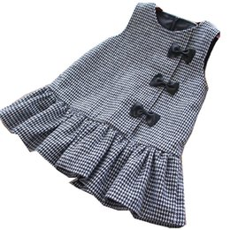 $enCountryForm.capitalKeyWord UK - Girl Christmas Dress Princess Plaid Sleeveless Bow Winter Kids Dresses For Girls Clothes Baby Girl Clothes Party Dress Holiday Y19061501