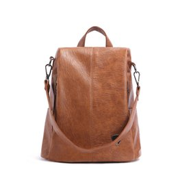 $enCountryForm.capitalKeyWord UK - Guard Against Theft Both Shoulders Package Woman Xia Baida Will Capacity Soft Leather Backpack Travelling Bag Tide