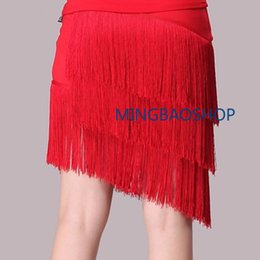 26732a72b71c 2019 Fashion Women Latin Tango Ballroom Tassel Fringe Skirt Samba Salsa  Dance Dress Dancewear Ballroom Split Skirt Black XL