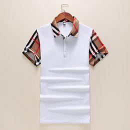 c8cb703c46e Shooting T Shirts Australia - Summer new short-sleeved men cotton lapel  splicing plaid T
