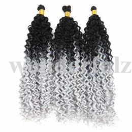 $enCountryForm.capitalKeyWord Australia - 14 Inch Water Wave Ombre Blonde Crochet Braids #613 Synthetic Braiding Hair jamaican bounce crochet hair afro kinky braids
