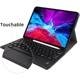 DHL Free touchable Keyboard For 2020 iPad Pro 11 Detachable Bluetooth Keyboard For iPad Pro 11 wireless Tablet Keyboard with PU leather Case on Sale