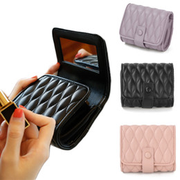 $enCountryForm.capitalKeyWord Australia - Lipstick Cosmetic Bag Makeup Bag With Mirror Portable Large Capacity Mini Pouch Beauty Case Toolbox Small Storage Cases