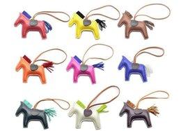 Multi Color Ladies Handbags Australia - New multi-color fashion cute ladies bag pendant high-end handmade PU handbag key chain tassel denim competitive horse charm accessories
