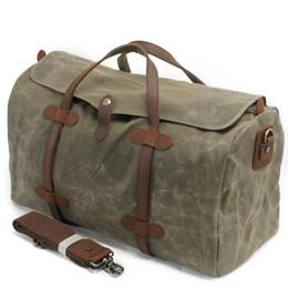 $enCountryForm.capitalKeyWord UK - 2019 Luxury Canvas Suitcases and Travel Bag Men Vintage Duffel Bags Big Carry on Luggage Weekend Large Waterproof Shoulder Totes