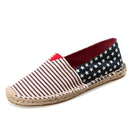 $enCountryForm.capitalKeyWord Australia - 9 Styles Fashion Loafer Straw Woven Sneakers Slip-On Casual Lazy Shoes for Women and Men Canvas Loafers Flats Size 35-45 High Quality 2019