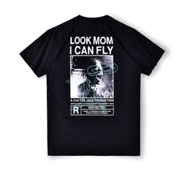 Wholesale american cottons men shirts online – design 2020 Ins Hot Spring Summer American Travis Scott Look Mom I Can Fly TS Tee Skateboard Mens designer t shirt Women Street Casual Tshirt