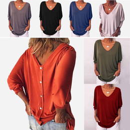 $enCountryForm.capitalKeyWord Australia - Designer Tshirts for Women 2019 New Sexy V-neck Batwing Seven-point Sleeves T Shirts Women Casual Luxury Loose Tops Tee Plus Size S-5XL