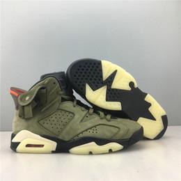 $enCountryForm.capitalKeyWord Australia - Best Quality Travis Scott 6 Designer Basketball Shoes Medium Olive Black Sail University Red VI Cactus Jack Fashion Sneakers Come With Box