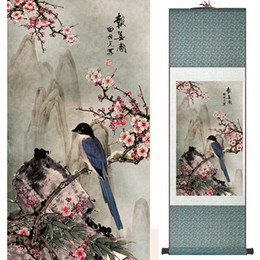 $enCountryForm.capitalKeyWord Canada - Birds And Flower Art Painting Home Office Decoration Chinese Scroll Painting Birds Painting 19041401
