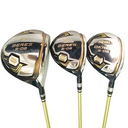 Wholesale New Golf Clubs S-06 Golf Wood 135 3Star HONMA wood Set driver Clubs Golf Graphite shaft R or S driver shaft Free shipping