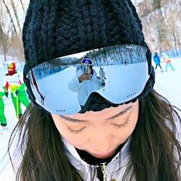 Опт Мужчины Женщины HD лыжные очки UV400 Anti-Fog Ski очки Winter ветрозащитный сноуборд очки лыжные очки сноуборде очки
