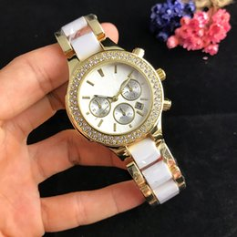 Luxury Christmas Gifts For Women Australia - 19 New luxury Famous Luxury Crystal Dial Bracelet Quartz WristWatch Christmas Gift for Ladies Women Gold Rose Gold Silver Free Shipping