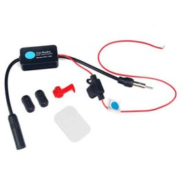 12v Car Antenna Australia - 1Set Car Stereo FM&AM Radio Signal Antenna Signal Amp Amplifier Booster Inline 12V