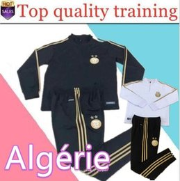 Wholesale man polyester suit resale online - new Algeria MAHREZ BOUNEDJAH soccer training suit Real Madrid Survetement maillot de foot Paris sportswear set football tra