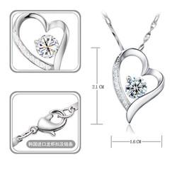$enCountryForm.capitalKeyWord Australia - High quality Austrian crystal Diamonds Love Heart Pendant Statement Necklace Fashion Class Women Girls Lady Swarovski Elements Jewelry 005