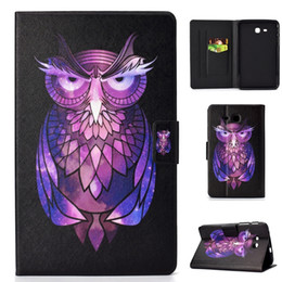 $enCountryForm.capitalKeyWord Australia - Owl Cat Dog Leather Case For Samsung Galaxy Tab A 10.1 T580 9.7 T560 T590 Tab4 T110 T380 T350 Tablet Bling Sand Card Stand Pouch Cover 30pcs