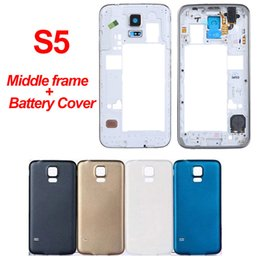 $enCountryForm.capitalKeyWord Australia - For Samsung Galaxy S5 Back Cover Case Battery Rear Door i9600 G900 Replacement S5 Battery Cover Back Housing