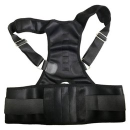 Discount magnetic posture support corrector back belt - Brand New Men Women Adjustable Magnetic Therapy Posture Corrector Support Belt Shoulder Back Protect Waist And Back