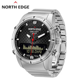 $enCountryForm.capitalKeyWord Australia - NORTH EDGE 100M Waterproof Smart Watch Men 50M Diving Sports Watch Altimeter Compass Luxury Full Steel Business Pedometer