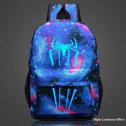 white schoolbags Canada - Cool Night Luminous Backpack Printing School Bagpack School Bags For Boys And Girls Schoolbags For Teenagers Mochila Infantil J190619