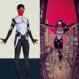 zentai suit girl NZ - Women Girls The Amazing Spider-Man Silk Cindy Moon Cosplay Costume Superhero Zentai Bodysuit Suit JumpsuitsMX190921