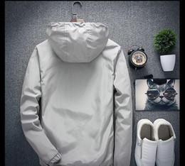 Опт Luxury Куртки пальто для мужчин Женщины Большого размера марки логотип весна осень мужских курток конструктора одежды Топы молния Толстовка ВЕТРОЗАЩИТНОГО