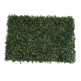 Pack Of 2 Artificial Plant Wall Panel Grass Foliage Turf, Wedding Venue Shop Window Decor, 60x40cm