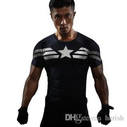 4xl compression shorts NZ - Iron Man Compression Shirt Captain America 3D Printed Mens Designer T-shirts Men Avengers 3 Short Sleeve Slim Fitness S-4XL Clothing