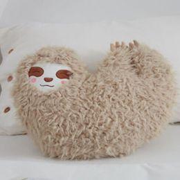 $enCountryForm.capitalKeyWord NZ - Soft Furry Sloth Pillow Love Heart Shape Cute Sloth Cushion Stuffed Plush Toy Gifts For Kids Home Decor #20