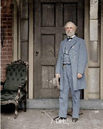 canvas photo prints Australia - Confederate Gen. Robert E Lee US Civil War Photo Painting Real Handpainted & Canvas Art Print High Quality Home Decor Wall Art p106 200311