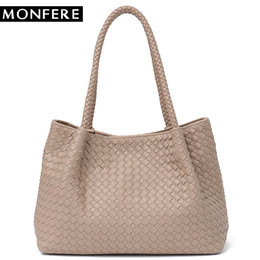 $enCountryForm.capitalKeyWord NZ - MONFERE Women Vegan Leather Handbag Female Large Totes High Quality Handmade Woven Big Ladies Shoulder Top-handle Bags&Purse Bag #187338