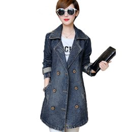 $enCountryForm.capitalKeyWord NZ - Plus Size S-5XL New Spring Fashion Oversized Women Denim Jacket Jeans Coat Long Sleeve Autumn Outerwear Coats Female