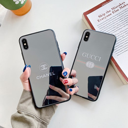 Mobile Mirrors online shopping - New design brand mirror mobile phone shell suitable for the iPhone x XR x s Max S plus luxury shockproof