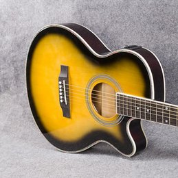 $enCountryForm.capitalKeyWord Australia - Acoustic guitar 40 inch ultra-thin barrel electric box sunset color EQ guitar factory wholesale free shipping