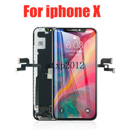 front lcd display screen iphone NZ - Upgraded Soft Amoled LCD for IPhone X 5.8 Inch Flexible OLED LCD Display Digitizer Assembly Full Complete Front Glass 3D Touch Screen+ Free