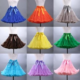 $enCountryForm.capitalKeyWord Australia - Hot Sale Colorfulle Tutu Petticoat Ruffled Knee Length Short Woman Petticoat Underskirt Tulle Bridal Petticoat Real Sample