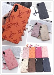 SamSung note leather back caSeS online shopping - Luxury Leather Phone Case for Iphone Pro Max X Xs Xr plus Samsung Note10 plus S10 G S9 S8 Note8 Fashion Designer Brand Back Case