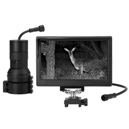 "diy night vision camera Canada - Tactical Digital DIY Night Vision Scope with Camera and 5"" Portable Display Screen Flashlight for Hunting Riflescope"