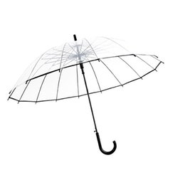 $enCountryForm.capitalKeyWord NZ - Transparent Rain Umbrella Ultra Light Women Kids Parasol Rain Umbrella Semi-automatic Female Umbrellas Women Decoration 50Ry11