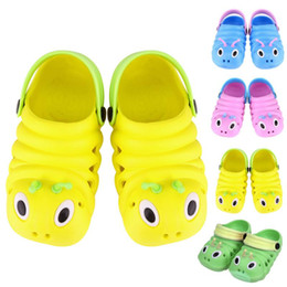 sandals for flower girls Australia - Children's Plastic Baby Shoes Waterproof Summer Girls Boys Sandals Children Caterpillar Kid Shoes Beach Sandals for 1-3Y Baby Wear
